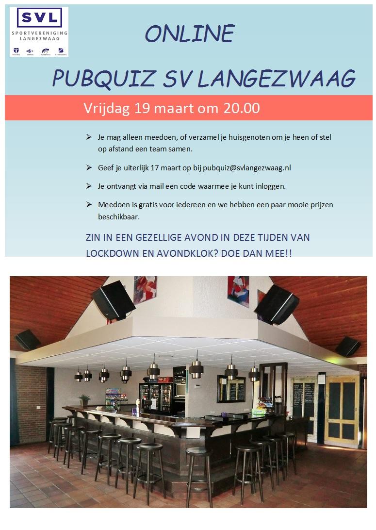 Uitnodiging Pubquiz SVL